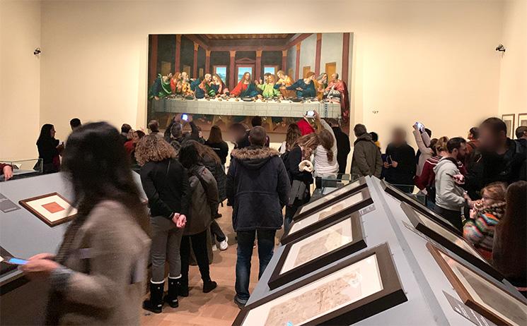 レオナルド・ダヴィンチ展の見学エリア