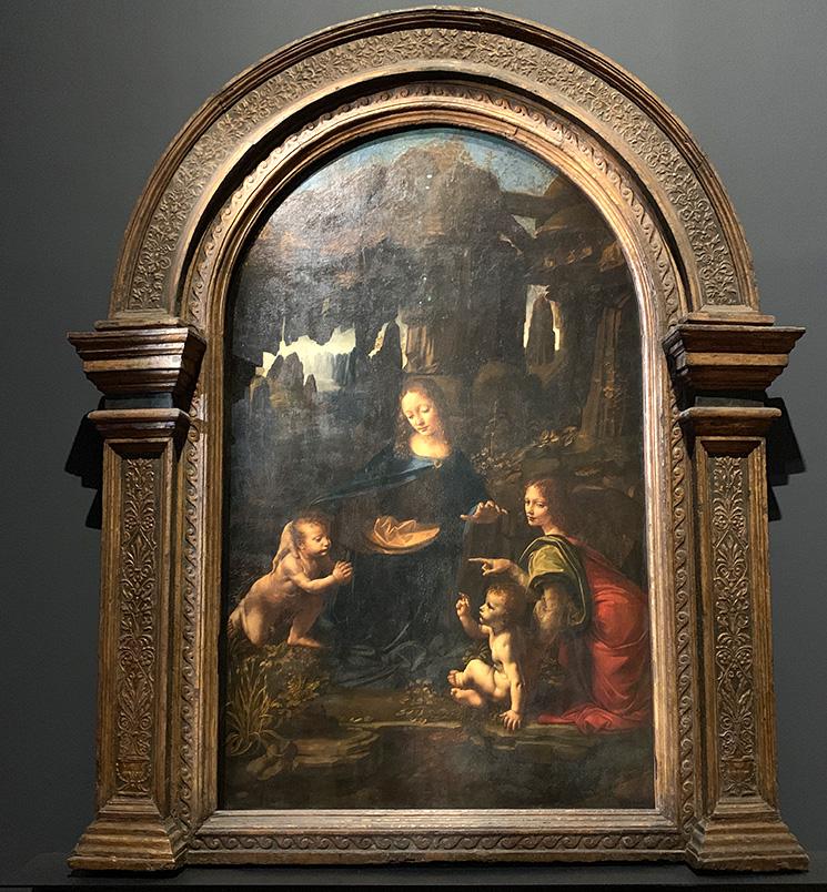 イタリア絵画 岩窟の聖母(レオナルド・ダヴィンチ作 - 1483-1486年)