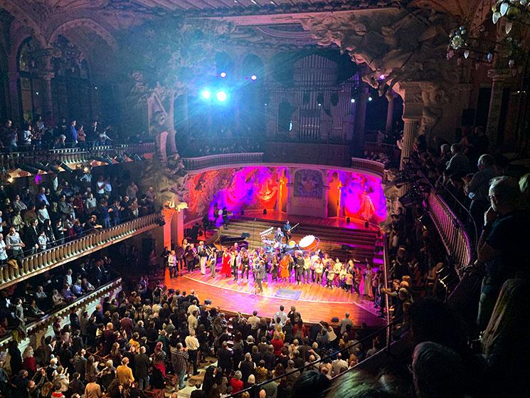 カタルーニャ音楽堂のコンサート