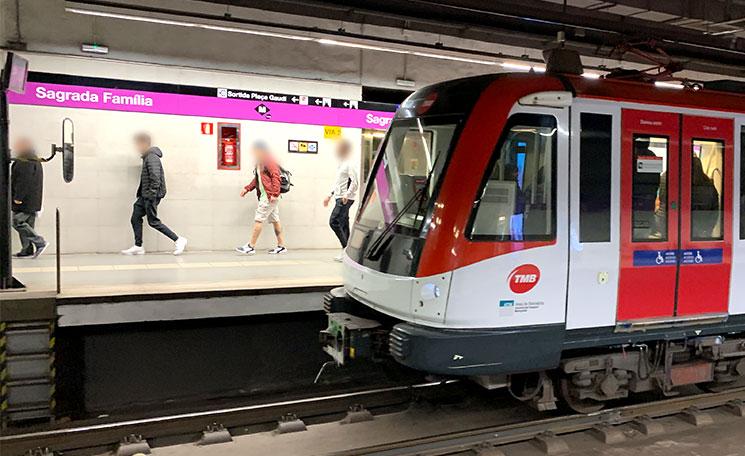 地下鉄 サグラダファミリア駅