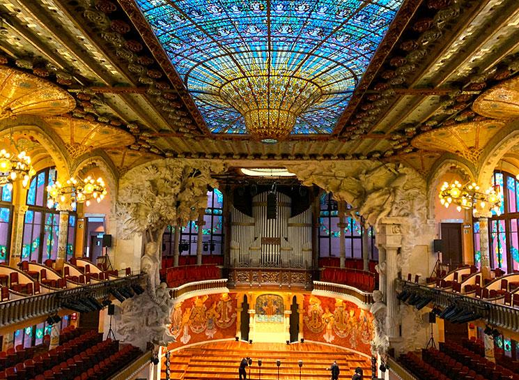 カタルーニャ音楽堂 コンサートホール