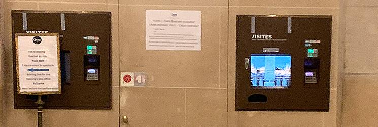 オペラ・ガルニエ管内の自動券売機