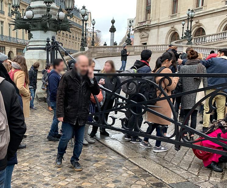 オペラ・ガルニエの入場門