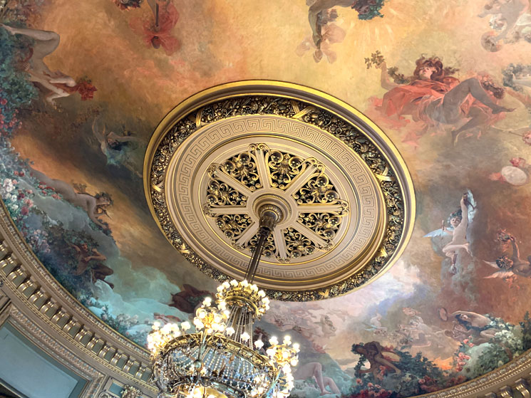 グラシエの間の天井画