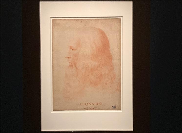 フランチェスコ・メルツィ作 レオナルド・ダヴィンチの肖像画