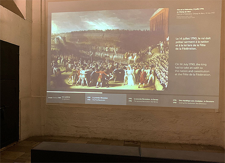 フランス革命時の牢獄 展示映像