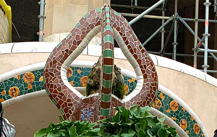 グエル公園 ヘビのしっぽのオブジェクト