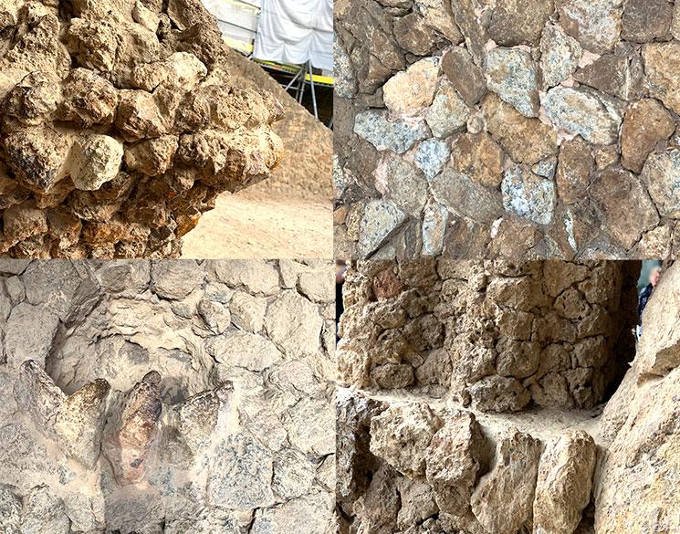 洗濯女(ブガデラ)の回廊 石の素材