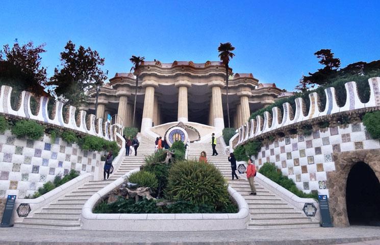 グエル公園の大階段