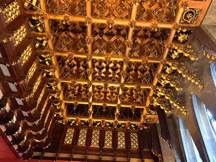 グエル家 主階の格天井
