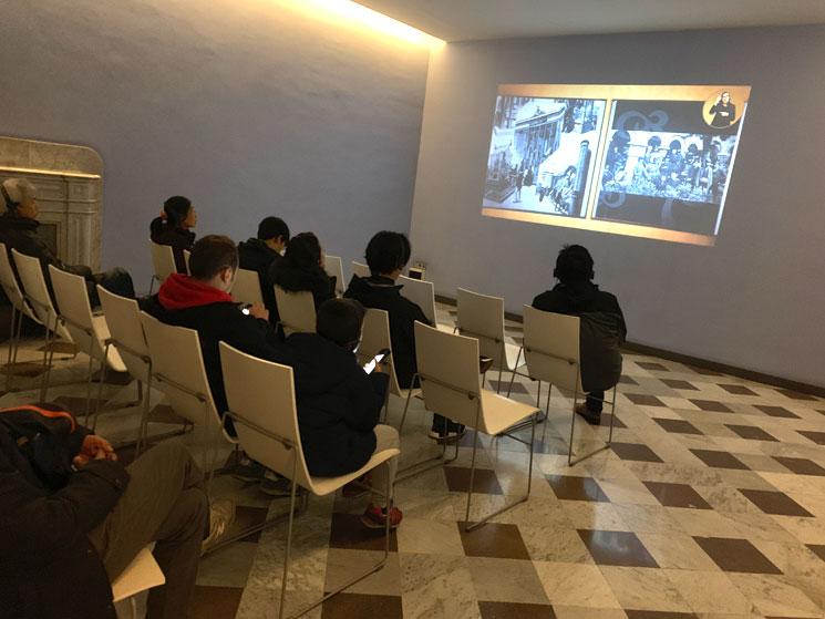 グエル邸2階の映像室