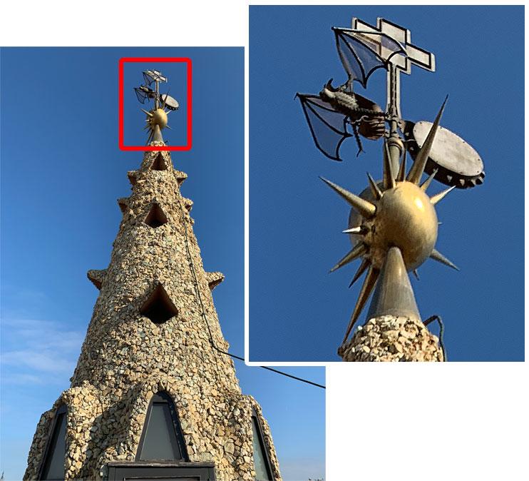 グエル邸の屋上 煙突