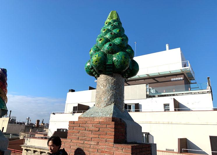 グエル邸の屋上 果実のオブジェクト