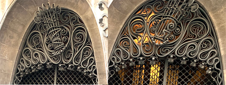 グエル邸 扉上部の装飾