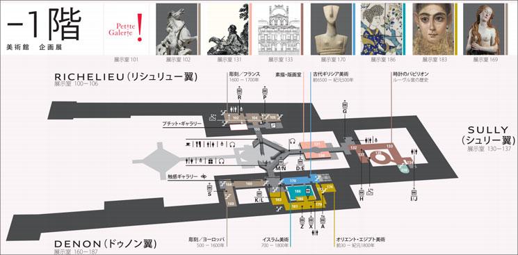 ルーブル美術館 -1階(地下階)