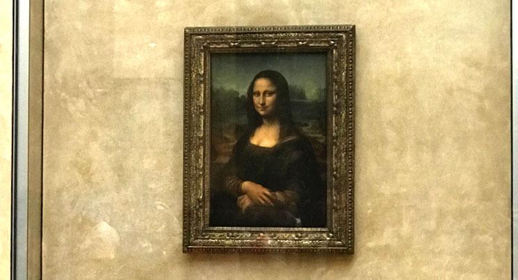 ルーブル美術館 展示室711 モナリザ