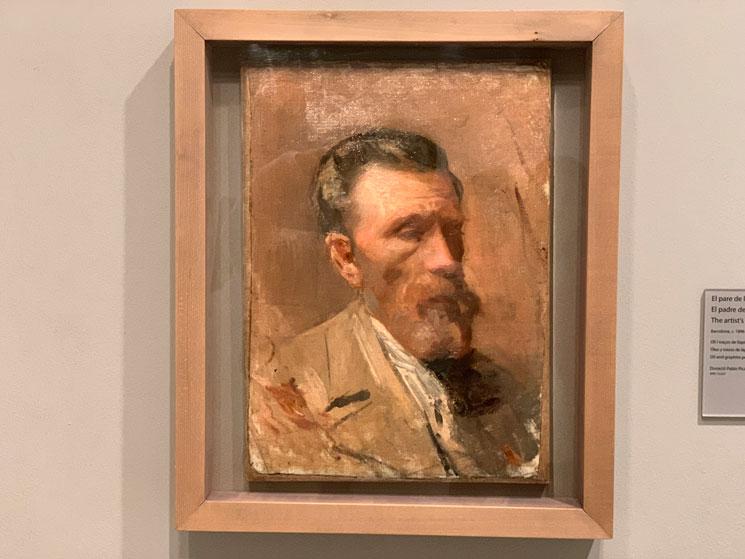 父の肖像 ピカソ作