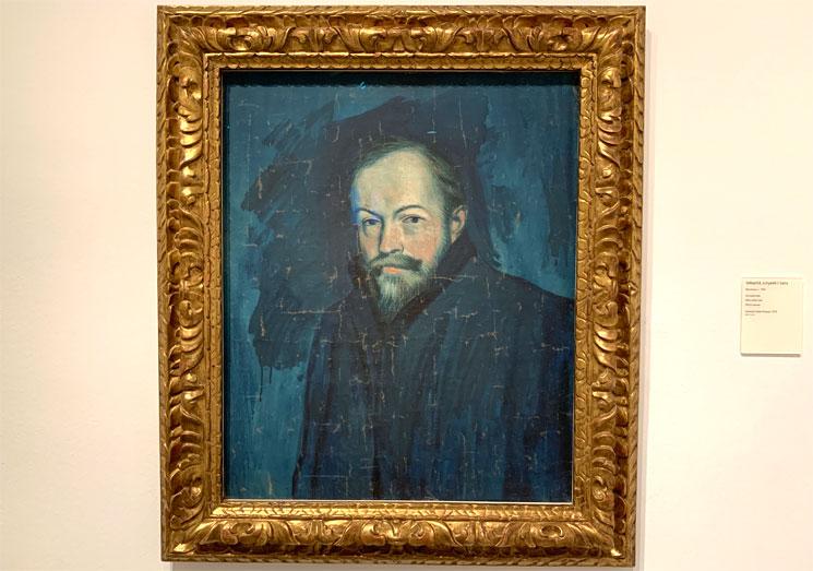 セバスティア・ジュニェ・サンスの肖像 ピカソ作