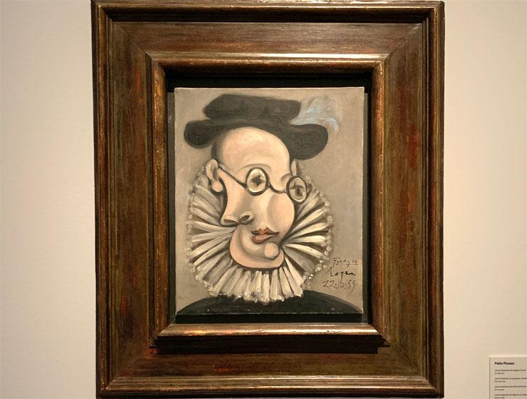 ひだえりと帽子を付けたジャウマ・サバルテスの肖像 ピカソ作