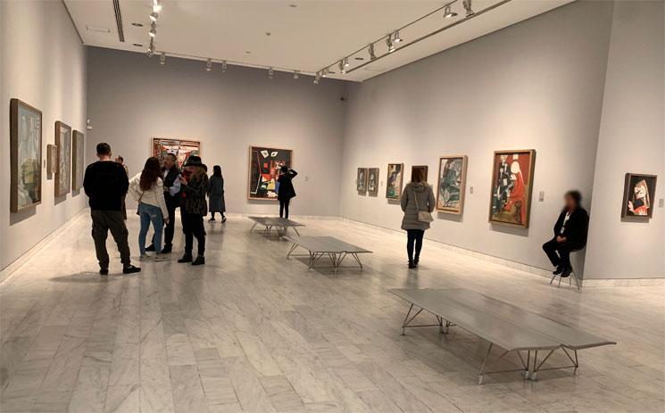 ピカソ美術館 常設展示エリアの景観