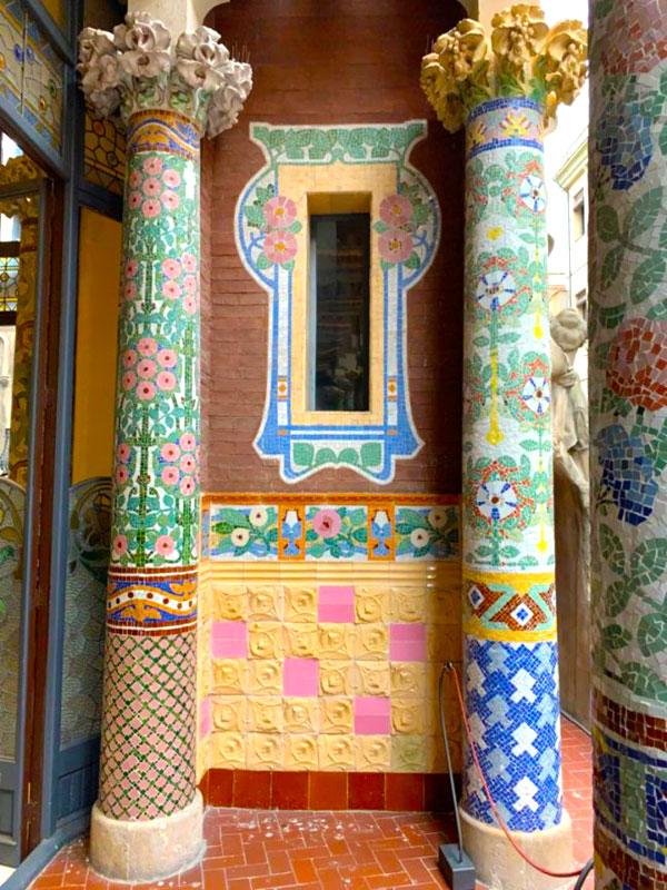 カタルーニャ音楽堂 ルイスミレーホールの装飾