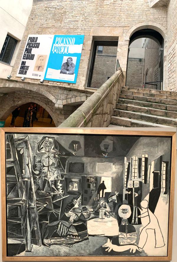 ピカソ美術館の景観と作品