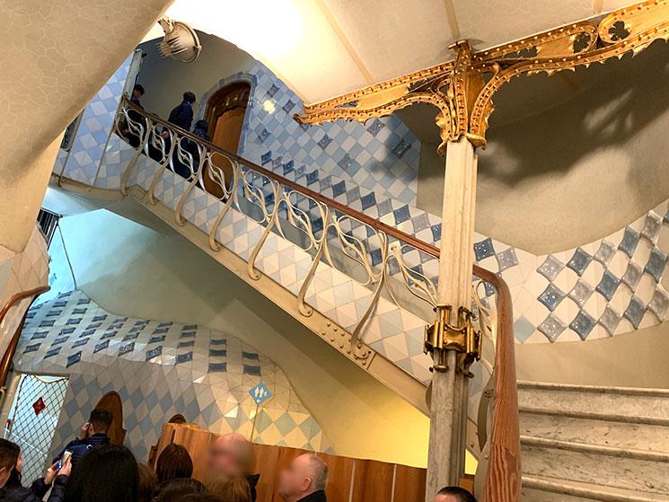 居住者用の階段
