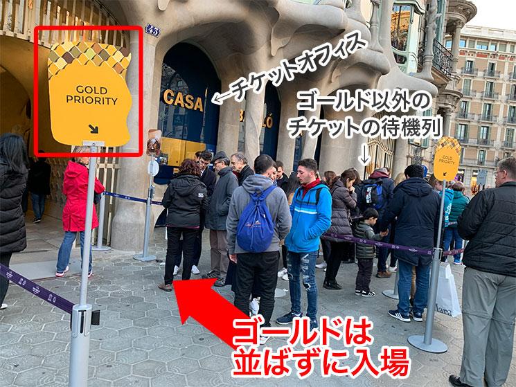 ゴールドチケット予約者の入口