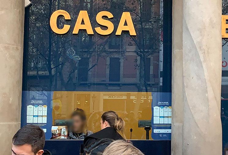 カサ・バトリョのチケットオフィス