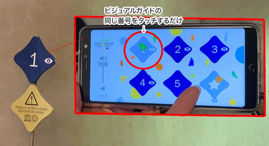 スマートビジュアルガイドの操作説明画像