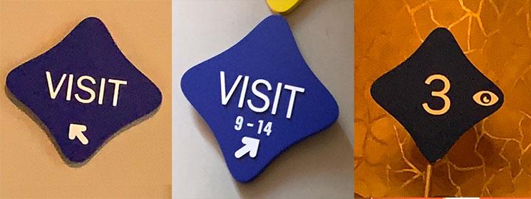 カサ・バトリョ館内の案内標識