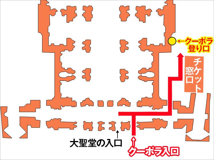 サン・ピエトロ大聖堂 入口付近の詳細マップ
