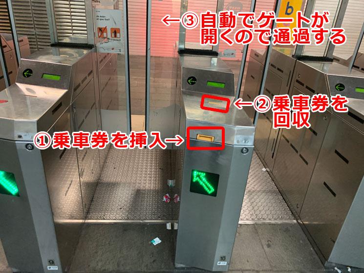 地下鉄 自動改札機の解説画像