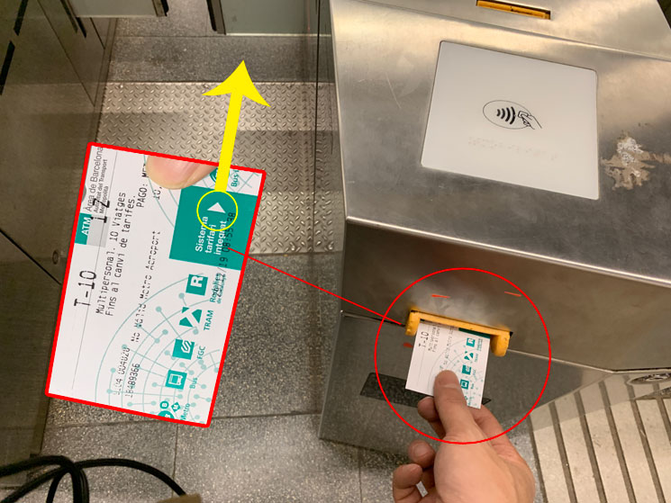 地下鉄 自動改札機 乗車チケットの挿入方法
