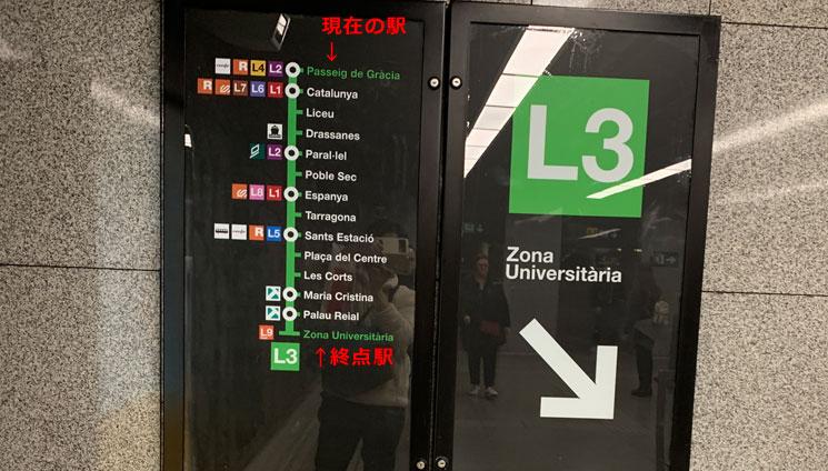 地下鉄 停車駅の路線図