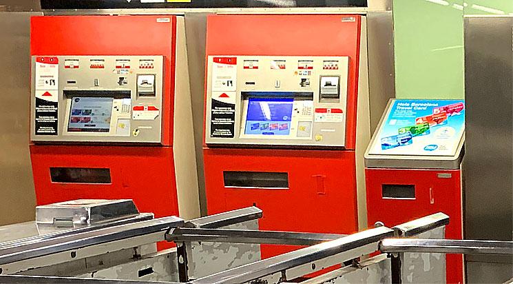 バルセロナ 地下鉄自動券売機