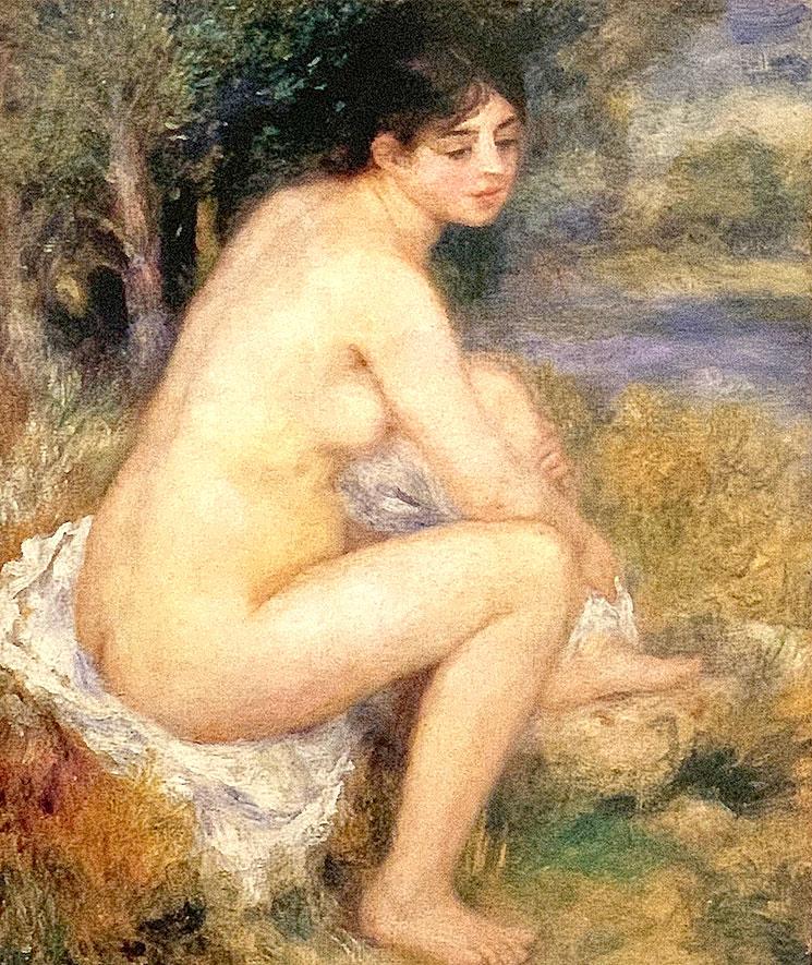 風景の中の裸婦(1883年) - ルノワール作