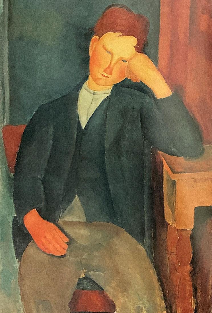 若い見習い(1918年) - モディリアーニ作