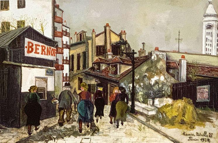 ベルノ商店(1924年) - モーリス・ユトリロ作