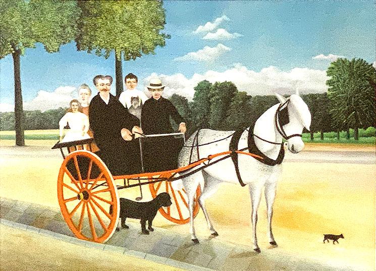 ジュニエ爺さんの二輪馬車(1908年) - アンリ・ルソー作