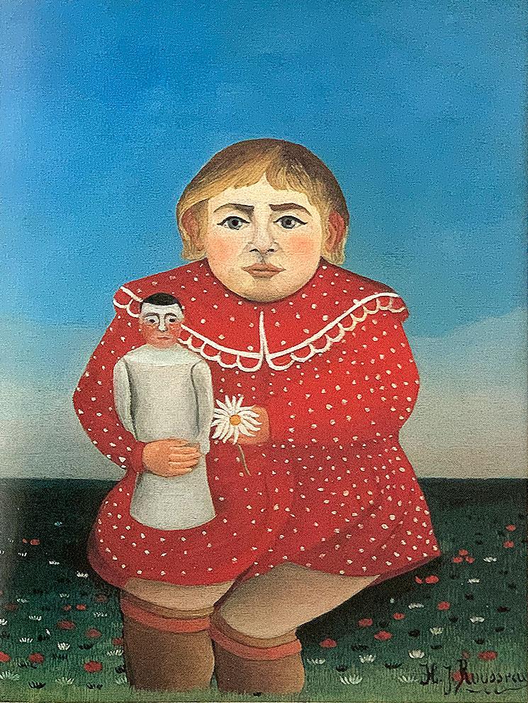 人形を持つ子供(1906年) - アンリ・ルソー作