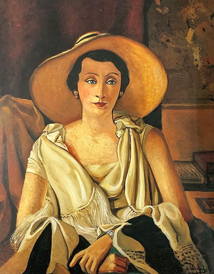 大きい帽子を被ったポール・ギョーム婦人の肖像(1928-29年) - アンドレ・ドラン作