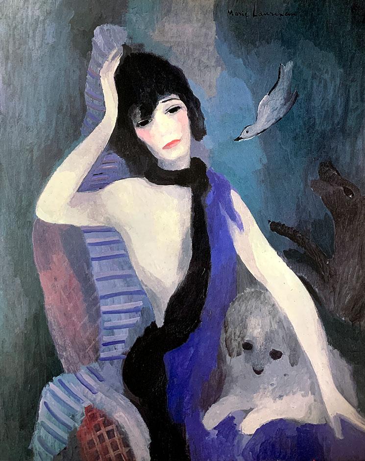 マドモアゼルシャネルの肖像(1923年) - マリー・ローランサン作