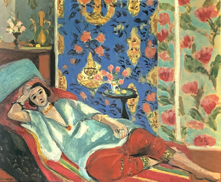 赤いズボンのオダリスク(1924-25年頃) - アンリ・マティス作
