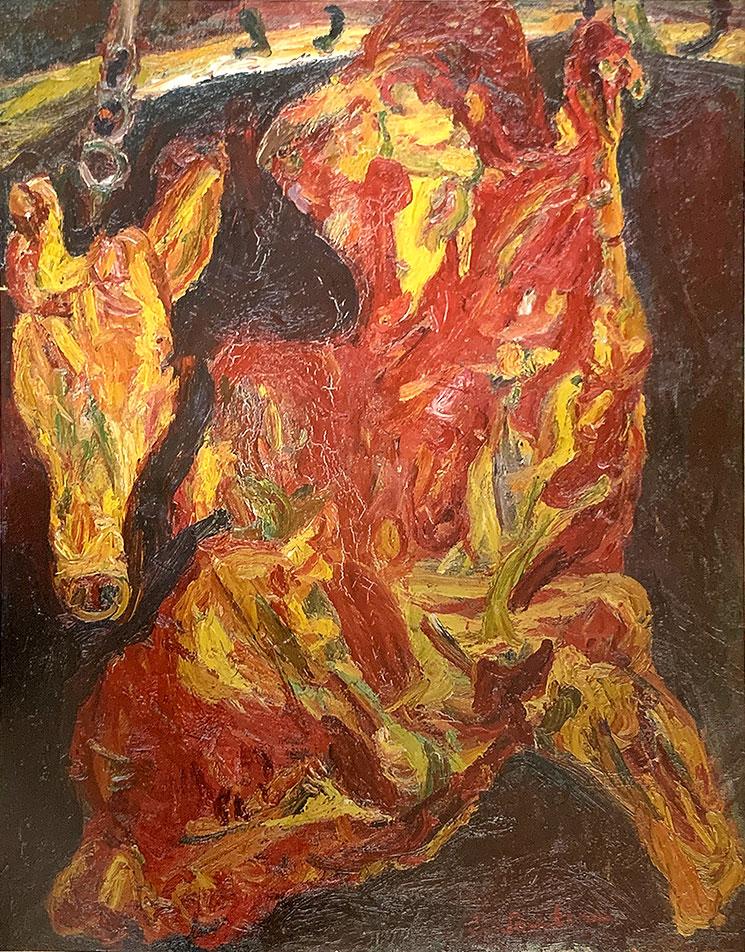 牛のばら肉と小牛の頭(1925年頃) - シャイム・スーティン作