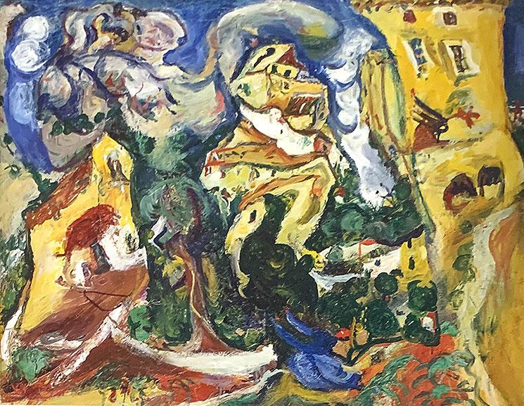 村落(1925年頃) - シャイム・スーティン作