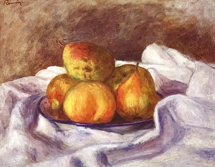 林檎とビスケット(1879-80年) - ポール・セザンヌ作