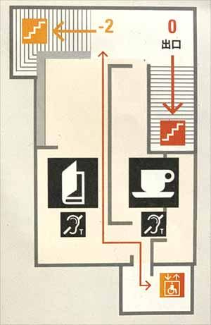 オランジュリー美術館 地下1階フロアマップ