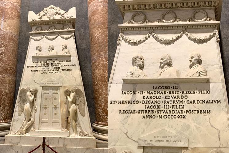 サン・ピエトロ大聖堂「スチュアートの記念碑」