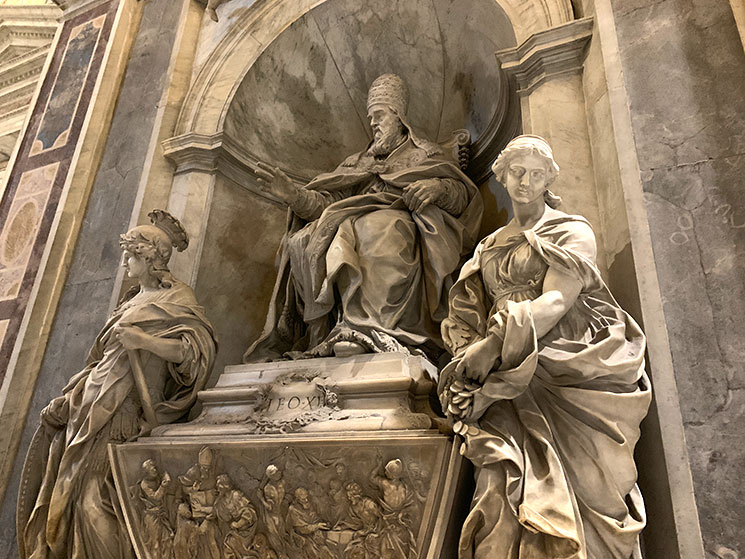 サン・ピエトロ大聖堂「レオ11世の墓碑」
